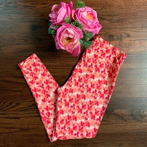 Sweet LuLaRoe Valentine's Heart Leggings, TC